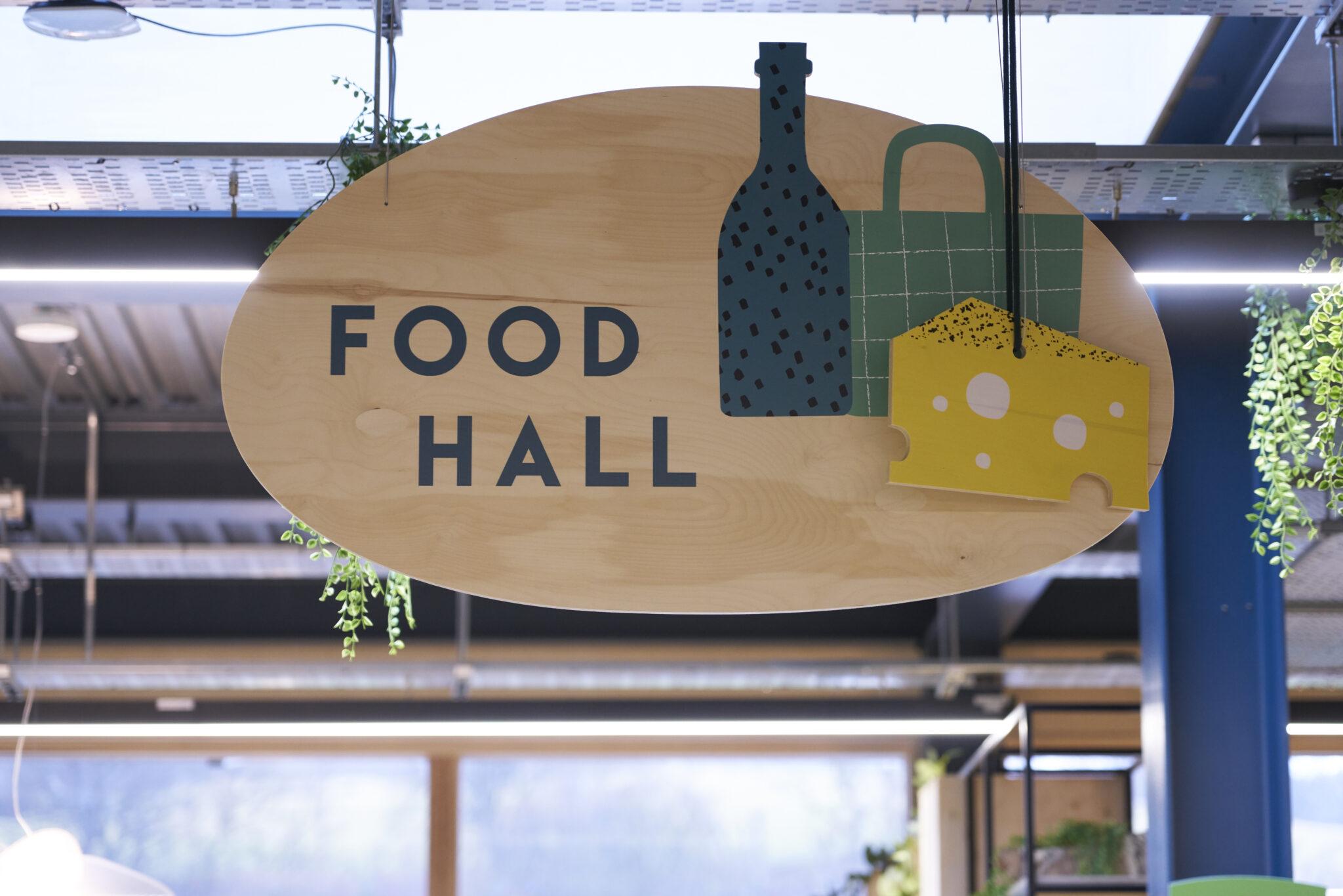 food hall sign