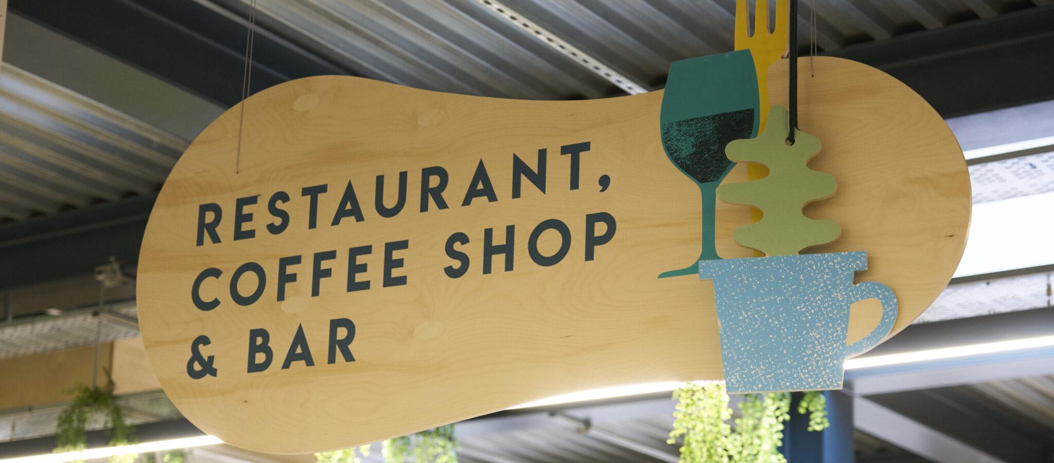 restaurant , coffee shop & bar sign