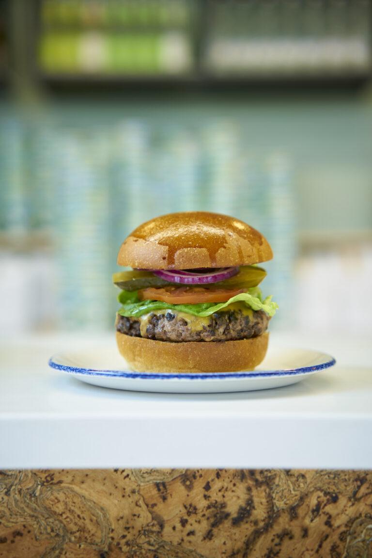 Moss & Moor angus beef burger