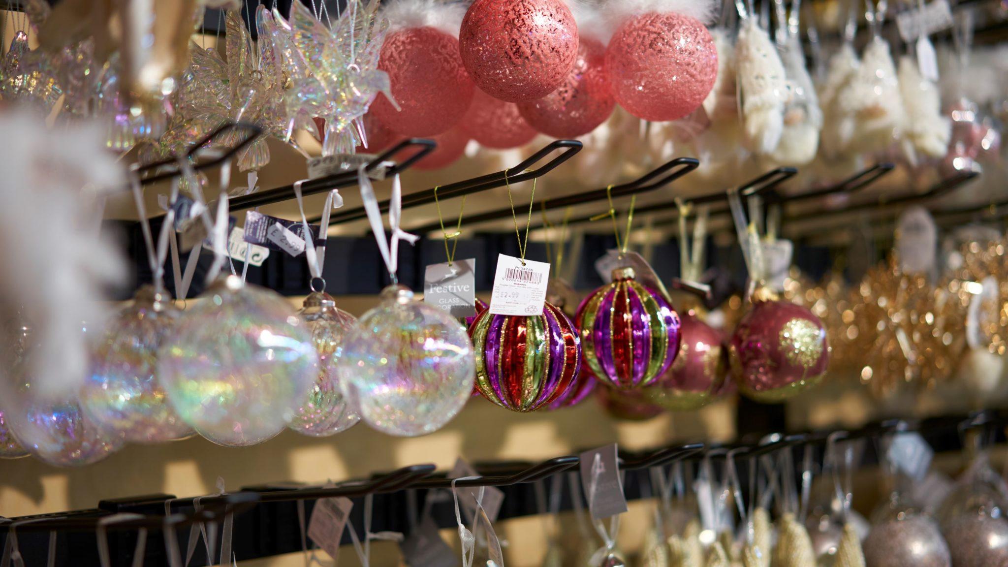 Pink Glitter decorations